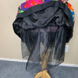 A.J. Bari Dresses - AJ Bari Jacquard Tropical Floral Tube Dress